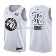Maillot NBA Pas Cher Minnesota Timberwolves Karl-Anthony Towns 32# White 2018 All Star Game Swingman..