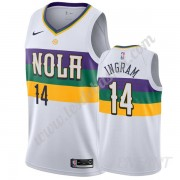 Maillot De Basket Enfant New Orleans Pelicans 2019-20 Brandon Ingram 14# Blanc City Edition Swingman..