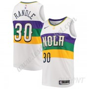 Maillot De Basket Enfant New Orleans Pelicans 2019-20 Julius Randle 30# Blanc City Edition Swingman..