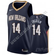 Maillot De Basket Enfant New Orleans Pelicans 2019-20 Brandon Ingram 14# Bleu Marine Icon Edition Sw..