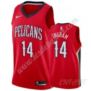 Maillot De Basket Enfant New Orleans Pelicans 2019-20 Brandon Ingram 14# Rouge Statement Edition Swi..