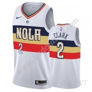 Maillot De Basket Enfant New Orleans Pelicans 2019-20 Ian Clark 2# Blanc Earned Edition Swingman..
