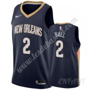 Maillot De Basket Enfant New Orleans Pelicans 2019-20 Lonzo Ball 2# Bleu Marine Icon Edition Swingma..