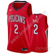 Maillot De Basket Enfant New Orleans Pelicans 2019-20 Lonzo Ball 2# Rouge Statement Edition Swingman..