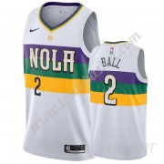 Maillot De Basket Enfant New Orleans Pelicans 2019-20 Lonzo Ball 2# Blanc City Edition Swingman..