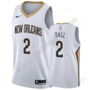 Maillot De Basket Enfant New Orleans Pelicans 2019-20 Lonzo Ball 2# Blanc Association Edition Swingm..