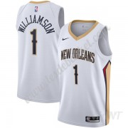 Maillot De Basket Enfant New Orleans Pelicans 2019-20 Zion Williamson 1# Blanc Association Edition S..