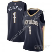 Maillot De Basket Enfant New Orleans Pelicans 2019-20 Zion Williamson 1# Bleu Marine Icon Edition Sw..