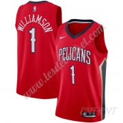 Maillot De Basket Enfant New Orleans Pelicans 2019-20 Zion Williamson 1# Rouge Statement Edition Swi..