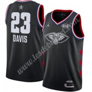 Maillot NBA Pas Cher New Orleans Pelicans 2019 Anthony Davis 23# Noir Finished All-Star Game Swingma..