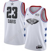 Maillot NBA Pas Cher New Orleans Pelicans 2019 Anthony Davis 23# Blanc Finished All-Star Game Swingm..