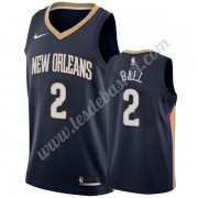 Maillot NBA New Orleans Pelicans 2019-20 Lonzo Ball 2# Bleu Marine Icon Edition Swingman..