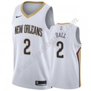 Maillot NBA New Orleans Pelicans 2019-20 Lonzo Ball 2# Blanc Association Edition Swingman