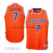 Maillot Basket Enfant New York Knicks 2015-16 Carmelo Anthony 7# Alternate..