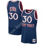 Maillot NBA New York Knicks 1982-83 Bernard King 30# Bleu Marine Hardwood Classics Swingman..