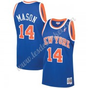 Maillot NBA New York Knicks 1991-92 Anthony Mason 14# Bleu Hardwood Classics Swingman..