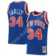 Maillot NBA New York Knicks 1991-92 Charles Oakley 34# Bleu Hardwood Classics Swingman..