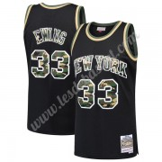 Maillot NBA New York Knicks 1991-92 Patrick Ewing 33# Noir Straight Fire Camo Swingman..