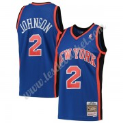 Maillot NBA New York Knicks 1998-99 Larry Johnson 2# Bleu Hardwood Classics Swingman..