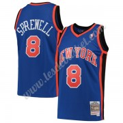 Maillot NBA New York Knicks 1998-99 Latrell Sprewell 8# Bleu Hardwood Classics Swingman..