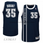 Maillot Basket NBA Oklahoma City Thunder Enfant 2015-16 Kevin Durant 35# Bleu Alternate..