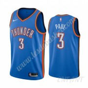 Maillot De Basket Enfant Oklahoma City Thunder 2019-20 Chris Paul 3# Bleu Icon City Edition Swingman..
