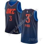 Maillot De Basket Enfant Oklahoma City Thunder 2019-20 Chris Paul 3# Bleu Statement Edition Swingman..