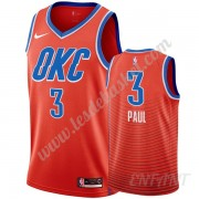 Maillot De Basket Enfant Oklahoma City Thunder 2019-20 Chris Paul 3# Orange Statement Edition Swingm..