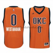 Maillot NBA Oklahoma City Thunder 2015-16 Russell Westbrook 0# Orange Alternate..