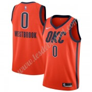 Maillot NBA Oklahoma City Thunder 2019-20 Russell Westbrook 0# Orange Earned Edition Swingman..