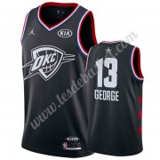 Maillot NBA Pas Cher Oklahoma City Thunder 2019 Paul George 13# Noir All Star Game Swingman..