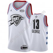Maillot NBA Pas Cher Oklahoma City Thunder 2019 Paul George 13# Blanc All Star Game Swingman..