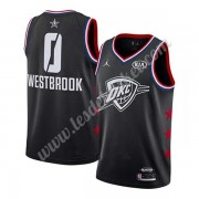 Maillot NBA Pas Cher Oklahoma City Thunder 2019 Russell Westbrook 0# Noir All Star Game Swingman..