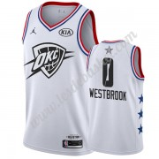 Maillot NBA Pas Cher Oklahoma City Thunder 2019 Russell Westbrook 0# Blanc All Star Game Swingman..