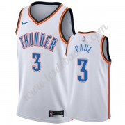 Maillot NBA Oklahoma City Thunder 2019-20 Chris Paul 3# Blanc Association Edition Swingman..