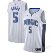 Maillot De Basket Enfant Orlando Magic 2019-20 Mohamed Bamba 5# Blanc Association Edition Swingman..