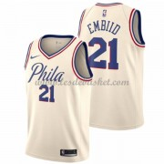 Maillot Basket Enfant Philadelphia 76ers 2018 Joel Embiid 21# City Edition..
