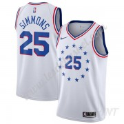 Maillot De Basket Enfant Philadelphia 76ers 2019-20 Ben Simmons 25# Blanc Earned Edition Swingman..