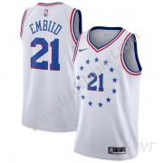Maillot De Basket Enfant Philadelphia 76ers 2019-20 Joel Embiid 21# Earned Edition Swingman..