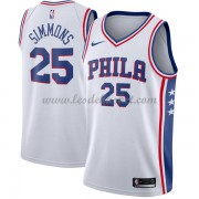 Maillot NBA Philadelphia 76ers 2018 Ben Simmons 25# Association Edition..