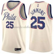 Maillot NBA Philadelphia 76ers 2018 Ben Simmons 25# City Edition..