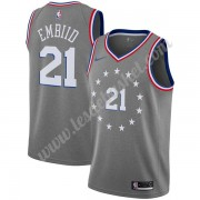 Maillot NBA Philadelphia 76ers 2019-20 Joel Embiid 21# Gris City Edition Swingman..