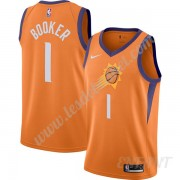 Maillot De Basket Enfant Phoenix Suns 2019-20 Devin Booker 1# Orange Finished Statement Edition Swin..