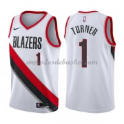 Maillot Basket Enfant Portland Trail Blazers 2018 Evan Turner 1# Association Edition..