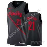 Maillot De Basket Enfant Portland Trail Blazers 2019-20 Hassan Whiteside 21# Noir City Edition Swing..