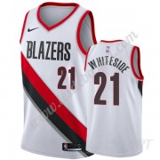 Maillot De Basket Enfant Portland Trail Blazers 2019-20 Hassan Whiteside 21# Blanc Association Editi..