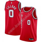 Maillot NBA Portland Trail Blazers 2019-20 Damian Lillard 0# Rouge Finished Hardwood Classics Swingm..