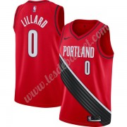 Maillot NBA Portland Trail Blazers 2019-20 Damian Lillard 0# Rouge Finished Statement Edition Swingm..