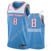 Maillot De Basket Enfant Sacramento Kings 2019-20 Bogdan Bogdanovic 8# Bleu City Edition Swingman..