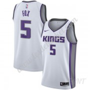 Maillot De Basket Enfant Sacramento Kings 2019-20 De'Aaron Fox 5# Blanc Association Edition Swingman..